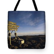 The Summit Of Mt. Kilimanjaro, Africas Tote Bag
