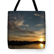 The Sun Sets In Milford Tote Bag