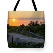 The Sun Sets On Block Island Tote Bag