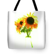 The Sunflowers In A Glass Vase. Tote Bag