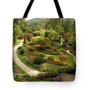 The Sunken Garden At Butchart Gardnes Tote Bag