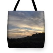 The Sun's Slowly Sinking Into Sunset Tote Bag
