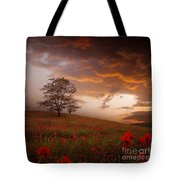 The Sunset Of The Poppies Tote Bag