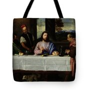 The Supper At Emmaus Tote Bag by Titian