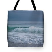 The Surf Rolls In At Holmes Beach Tote Bag