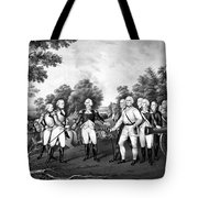 The Surrender Of General Burgoyne Tote Bag
