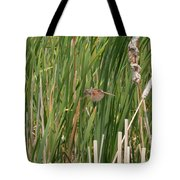 The Swamp Sparrow In-flight Tote Bag