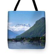 The Swiss Alps Overlooking Lake Geneva Tote Bag