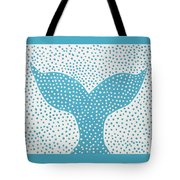 The Tail Of The Dotted Whale Tote Bag by Deborah Boyd