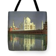 The Taj Mahal Tote Bag by Vasili Vasilievich Vereshchagin
