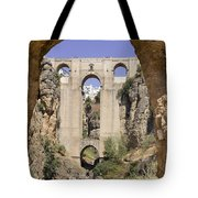 The Tajo De Ronda And Puente Nuevo Bridge Andalucia Spain Europe Tote Bag