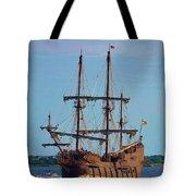 The Tall Ship El Galeon Tote Bag
