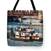 The Tanner On The Icy River Tote Bag