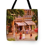 The Tavern On The Plaza - Spain Tote Bag