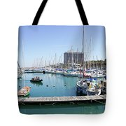 The Tel Aviv Marina  Tote Bag