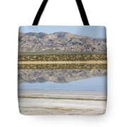 The Temblor Range Is Reflected In Soda Tote Bag