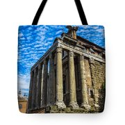 The Temple Of Antoninus And Faustina Tote Bag