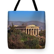 The Temple Of Hephaestus In The Morning, Athens, Greece Tote Bag