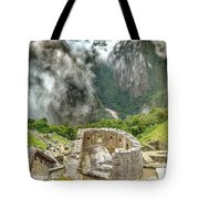 The Temple Of The Sun. Machu Picchu Tote Bag