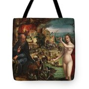 The Temptations Of Saint Anthony Abbot Tote Bag