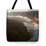 The Tennessee River Cuts Through Signal Tote Bag