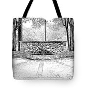 The Terrace In Black And White Tote Bag