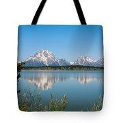 The Tetons On Jackson Lake - Grand Teton National Park Wyoming Tote Bag