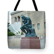 The Thinker And The Shuttlecock Tote Bag
