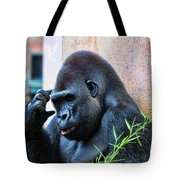 The Thinking Gorilla Tote Bag