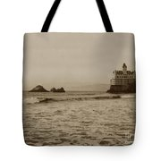The  Third Cliff House And Seal Rocks From Pier, San Francisco,  Circa 1895 Tote Bag