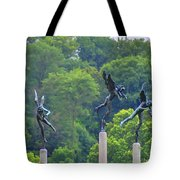 The Three Angels Tote Bag