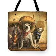 The Three Banditos Tote Bag by Sean ODaniels