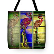 The Three Flamingos Tote Bag