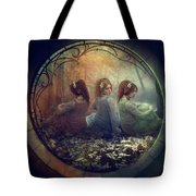 The Three Flowers Tote Bag
