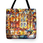 The Three Friends - Palette Knife Oil Painting On Canvas By Leonid Afremov Tote Bag