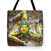 The Three-legged Symbol Of Sicily, Italy - Trinacria  Tote Bag
