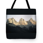 The Three Sisters Of The Rockies Tote Bag
