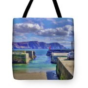 The Tide Is Out In The Harbour Tote Bag