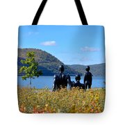 The Tides And The Hudson Tote Bag