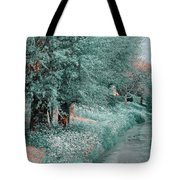The Time Goes By. Nature In Alien Skin Tote Bag