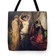 The Toilet In The Seraglio Tote Bag by Theodore Chasseriau