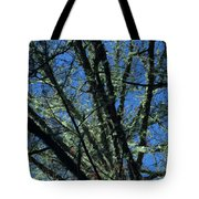 The Top A Glowing Tree Tote Bag