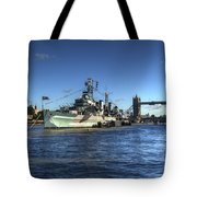 The Tower Hms Belfast And Tower Bridge Tote Bag