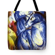 The Tower Of Blue Horses 1913 Tote Bag