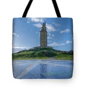 The Tower Of Hercules And The Rose Of The Winds Tote Bag