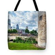 The Tower Of London And The City District With Gherkin Skyscraper, The Uk Tote Bag