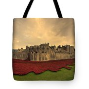 The Tower Poppies  Tote Bag