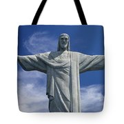 The Towering Statue Of Christ Tote Bag