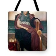 The Tragic Poetess Tote Bag by Frederic Leighton