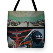 The Train Station At Portsmouth Ohio Tote Bag